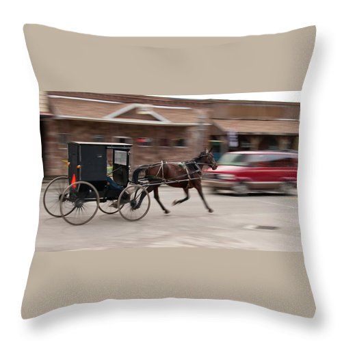 Horse Throw Pillow featuring the photograph Speeding 3271 by Guy Whiteley