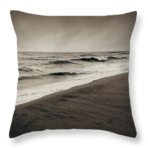 Ocean Throw Pillow featuring the photograph Spending My Days Escaping Memories by Dana DiPasquale