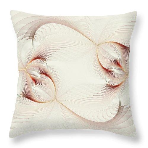 Digital Throw Pillow featuring the digital art Spher Eye 1 by Deborah Benoit
