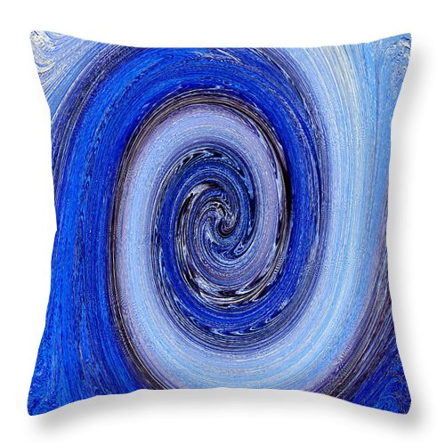 Spherical Throw Pillow featuring the photograph Spherical Glass Design Abstract by Steve Somerville