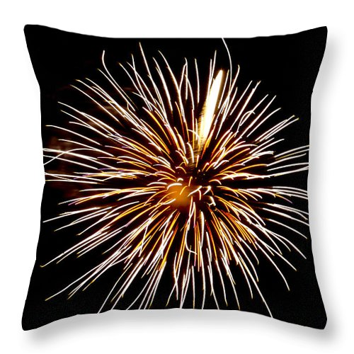 July 4th Throw Pillow featuring the photograph Spider Ball by Phill Doherty