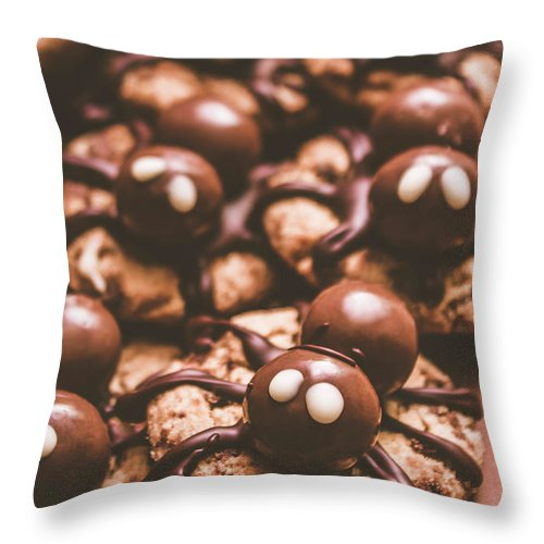 Spider Throw Pillow featuring the photograph Spider Bites by Jorgo Photography - Wall Art Gallery