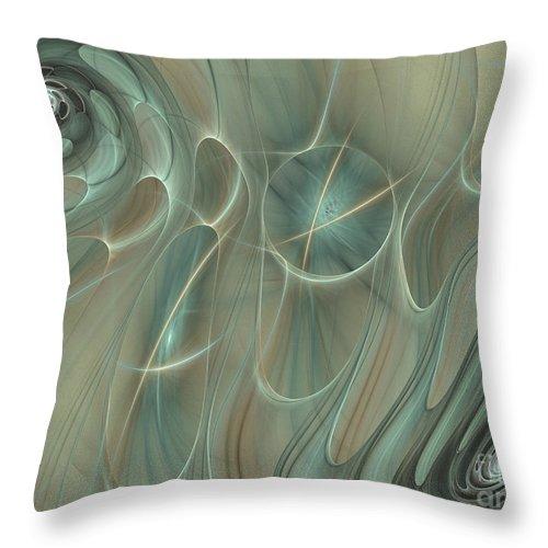 Fractal Throw Pillow featuring the digital art Spinning Galaxies by Deborah Benoit