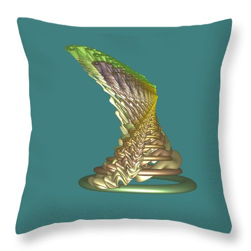 Fractal Throw Pillow featuring the digital art Spinning Hat by Frederic Durville