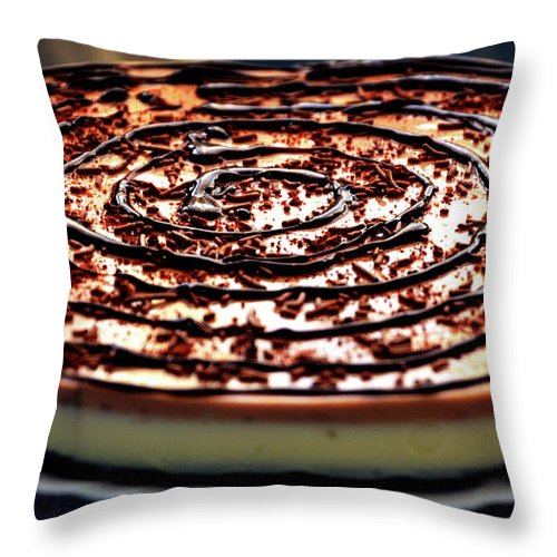 Spiral Throw Pillow featuring the photograph Spiral Chocolate Pudding by Farah Faizal