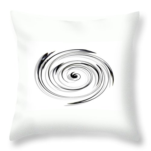 Spiral Throw Pillow featuring the digital art Spiral by Efrat Fass