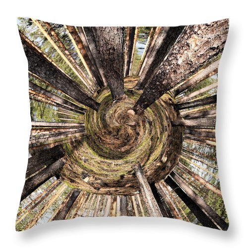 Lehtokukka Throw Pillow featuring the photograph Spiral Of Forest by Jouko Lehto