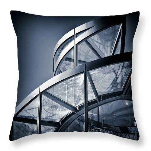 Spiral Throw Pillow featuring the photograph Spiral Staircase by Dave Bowman