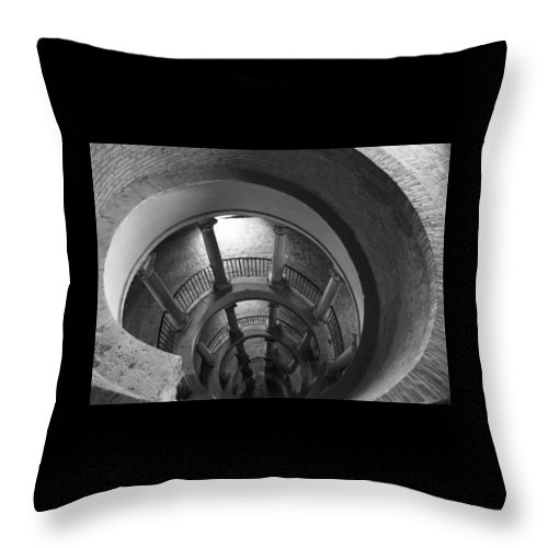 Spiral Staircase Throw Pillow featuring the photograph Spiral Staircase by Donna Corless