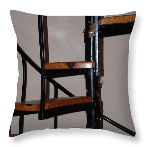 Stairs Throw Pillow featuring the photograph Spiral Stairs by Rob Hans