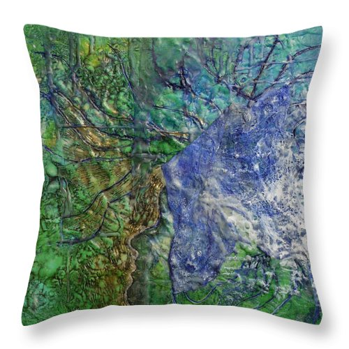 Spirit Guide Throw Pillow featuring the painting Spirit Guide For Eve by Heather Hennick