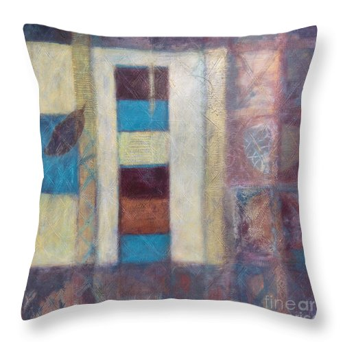 Spiritual Throw Pillow featuring the painting Spirit Of Gold - States Of Being by Kerryn Madsen- Pietsch