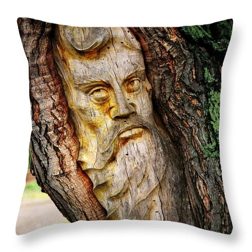 North America Throw Pillow featuring the photograph Spirit Of The Forest ... by Juergen Weiss