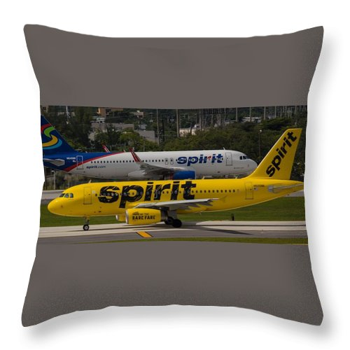 Airline Throw Pillow featuring the photograph Spirit Spirit by Dart and Suze Humeston
