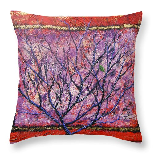 Nature Throw Pillow featuring the painting Spirit Tree 6 by Tami Booher