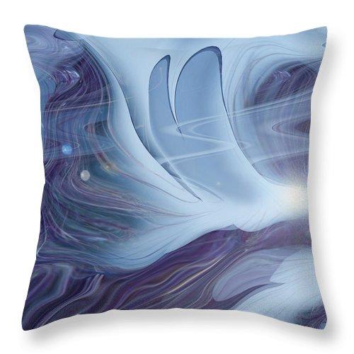Abstract Throw Pillow featuring the digital art Spirit World by Linda Sannuti