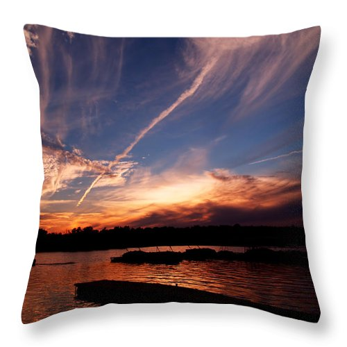 Sky Throw Pillow featuring the photograph Spirits In The Sky by Gaby Swanson