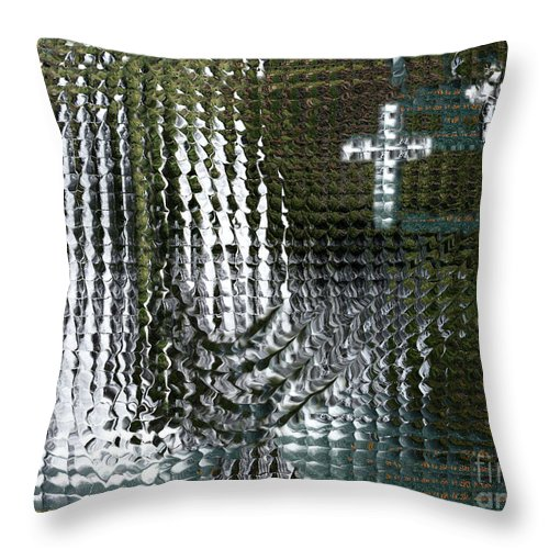 Spiritual Throw Pillow featuring the digital art Spirits Of The Cross by Stephanie H Johnson