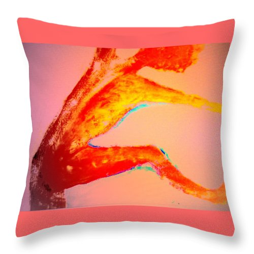 Troll Throw Pillow featuring the painting We Could Always Do Some Spiritual Dancing After The Rain She Suggested by Hilde Widerberg