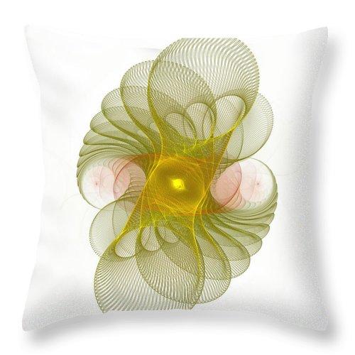 Fractal Throw Pillow featuring the digital art Spiro-girations by Richard Ortolano