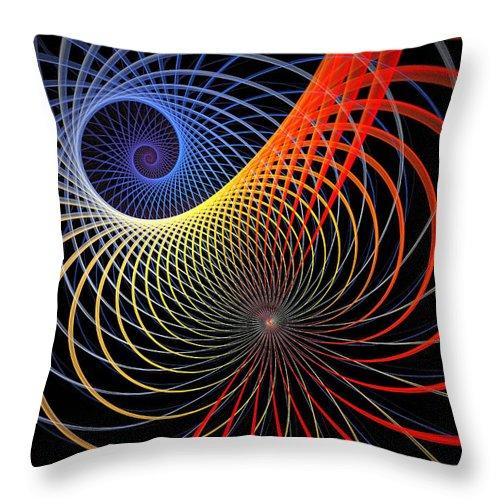 Digital Art Throw Pillow featuring the digital art Spirograph by Amanda Moore