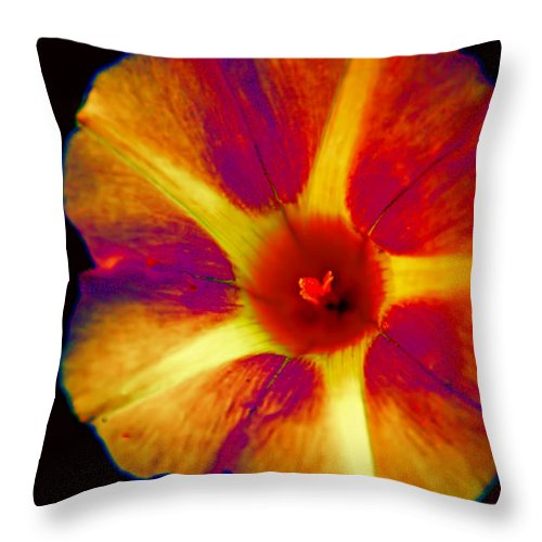 Spirograph Throw Pillow featuring the photograph Spirograph by John Welling