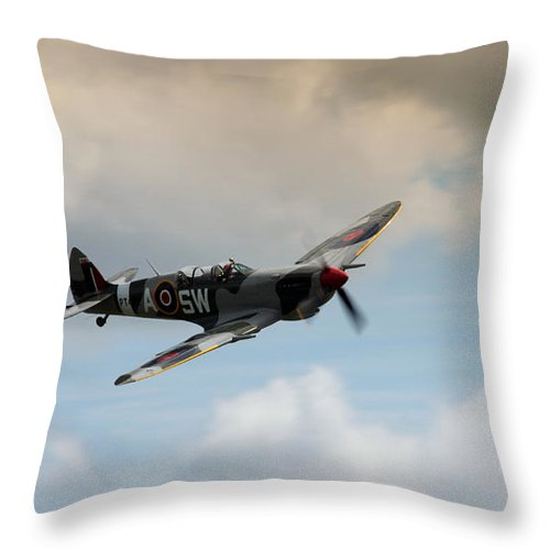 Spitfire Throw Pillow featuring the photograph Spitfire by Angel Ciesniarska