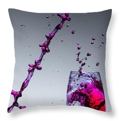 Splash Throw Pillow featuring the photograph Splash-002 by Jannis Politidis