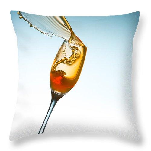 Splash Throw Pillow featuring the photograph Splash-005 by Jannis Politidis