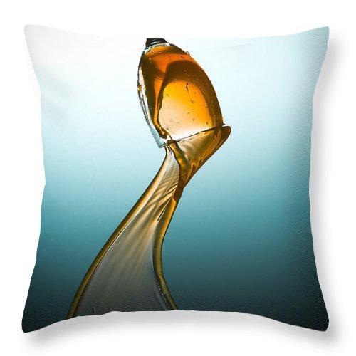 Splash Throw Pillow featuring the photograph Splash-006 by Jannis Politidis