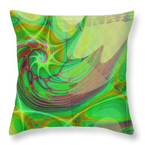 Abstract Throw Pillow featuring the digital art Splash by Frederic Durville