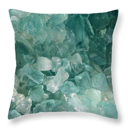 Sea Glass Teal White Ocean Throw Pillow featuring the photograph Splash by Kristine Nora