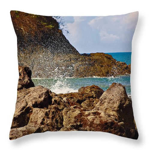 Sea Throw Pillow featuring the photograph Splash by Madeline Ellis