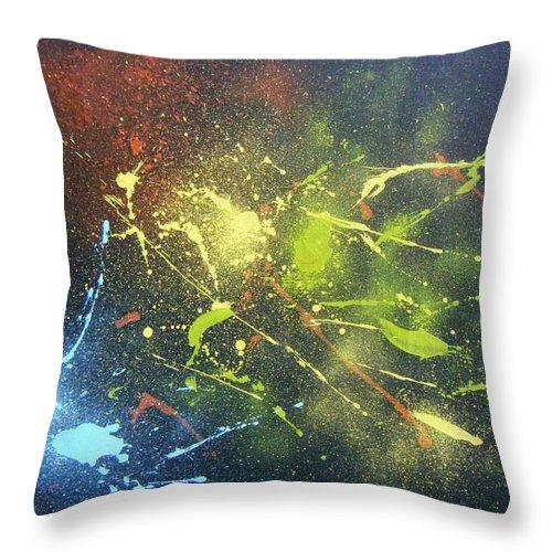 Splash Throw Pillow featuring the painting Splash by Olaoluwa Smith