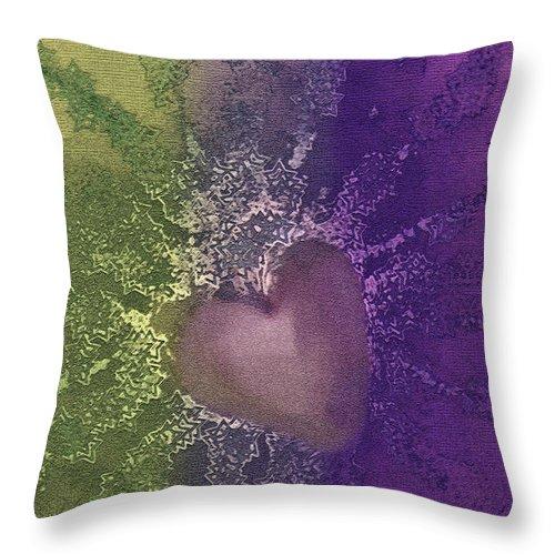 Hearts Throw Pillow featuring the digital art Splattered Ink by Linda Sannuti