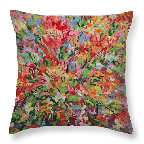 Painting Throw Pillow featuring the painting Splendor. by Leonard Holland