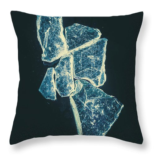 Glass Throw Pillow featuring the photograph Splinters And Fractures by Jorgo Photography - Wall Art Gallery