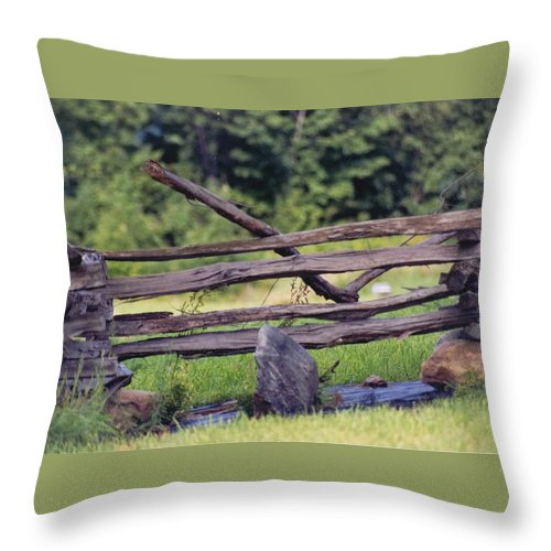 Nature Throw Pillow featuring the photograph Split Rail by David Ostman