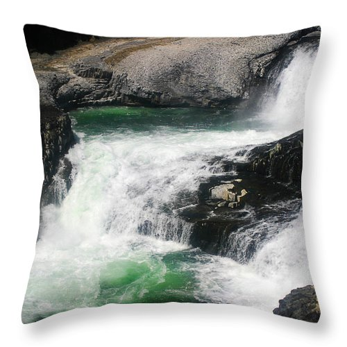 Spokane Throw Pillow featuring the photograph Spokane Water Fall by Anthony Jones