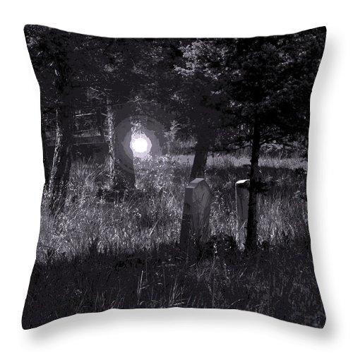 Digital Creation Throw Pillow featuring the photograph Spooky Spirit by D Nigon