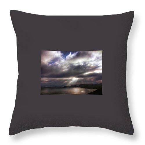 Marin Headlands Throw Pillow featuring the photograph Spot O' Sun by Michael McGowan