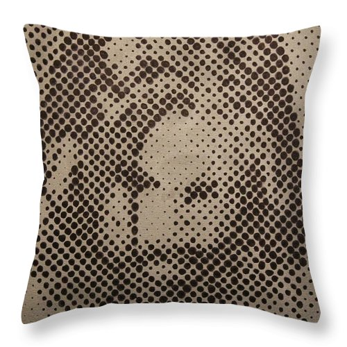Biblepaintings God Jesus Christ Christian Christianity Bible Gallery Fine Art Steven Louis Doucette Throw Pillow featuring the painting Spotless by Steven Louis Doucette