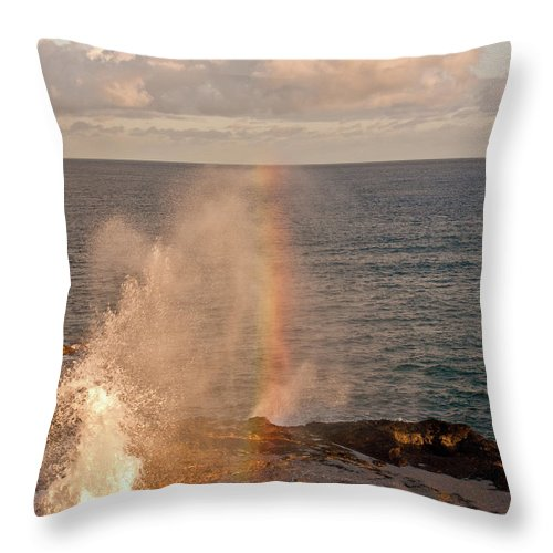 Kauai Throw Pillow featuring the photograph Spouting Horn Study 2 by Roger Mullenhour