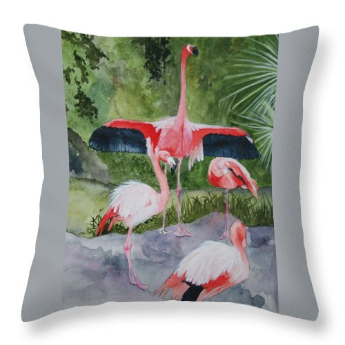 Wings Throw Pillow featuring the painting Spreading My Wings by Jean Blackmer