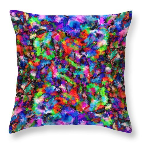 Abstract Throw Pillow featuring the digital art Spring Bloom by Ruth Moratz