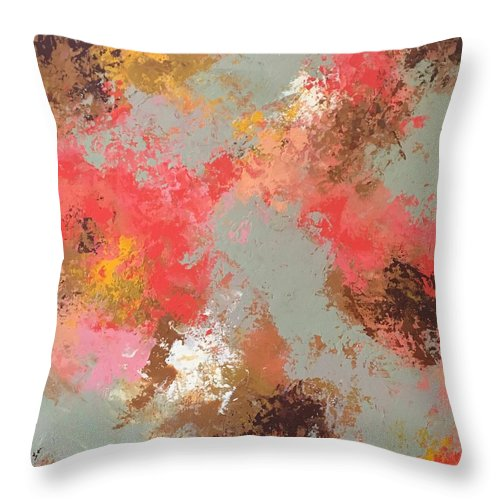 Throw Pillow featuring the painting Spring Bloom by Suzzanna Frank