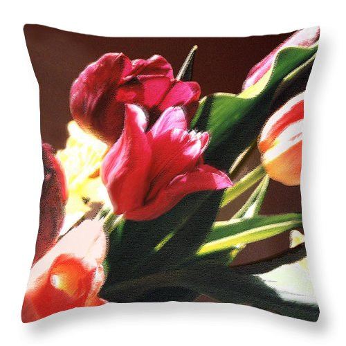 Floral Still Life Throw Pillow featuring the photograph Spring Bouquet by Steve Karol