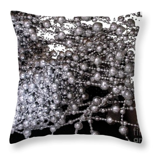 Beadwork Throw Pillow featuring the digital art Spring Breakup by Ron Bissett