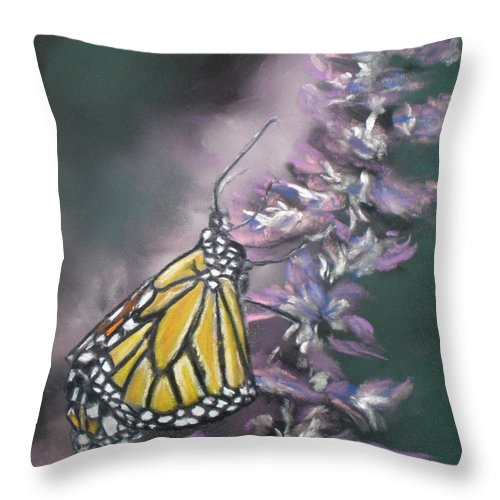 Spring Throw Pillow featuring the painting Spring by Cathy Weaver
