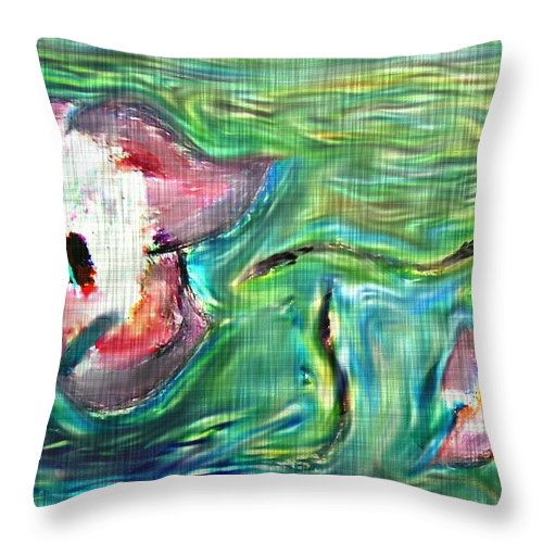 Floral Throw Pillow featuring the digital art Spring by Crystal Webb